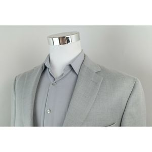 Chaps Light Gray 2 Button Sport Coat Blazer 44R